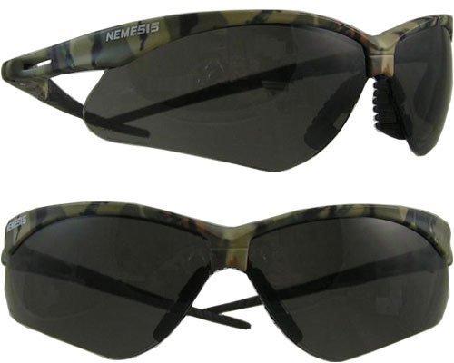 Nemesis JACKSON SAFETY V30 schwarz aus Polycarbonat Standard Flecktarn Sicherheitsbrille - 99.9% UV Schutz - Wrap Around Rahmen - 22609 [Preis gilt pro Stück je] von Jackson SAFETY