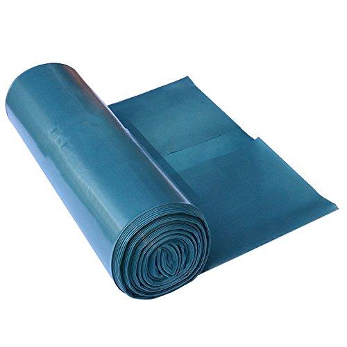 Müllsäcke 120 L - extrem reißfest - 15er Rolle - Typ 100 extra - Abfall-Säcke XXL Abfallbeutel - 68 μ - 700x1100 mm - LDPE - perfekte Müllentsorgung für Haushalt Garten Gewerbe Baustelle - blau