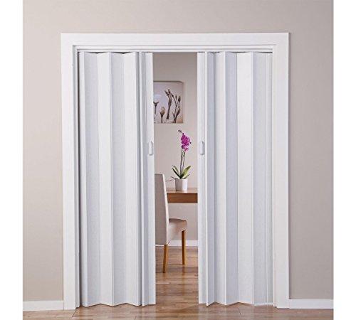 faltbare tueren - Effekt Eiche weiß faltbar Doppel Tür (770045422)