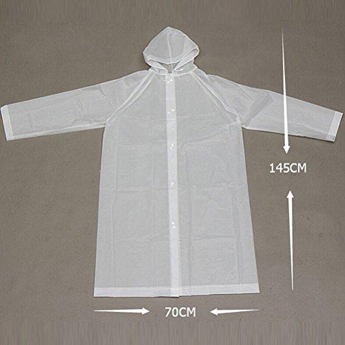 Zhhlinyuan Outdoor Portable EVA Hooded Rainwear Unisex Lightweight Waterproof Raincoat purple