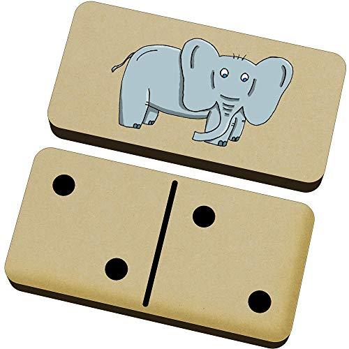 Azeeda 'Elefante' Domino Juego y Caja (DM00022057)