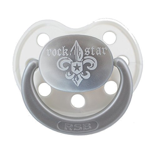 Rock Star Baby ciuccio Fleur De Lis misura 2silikion senza BPA