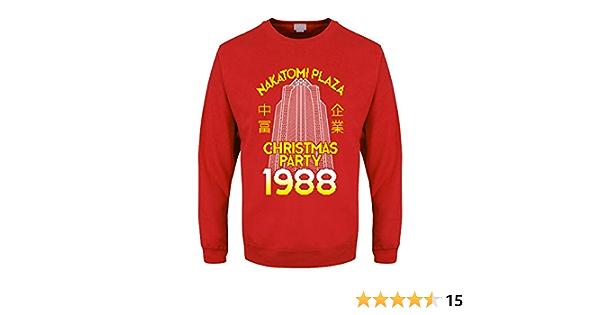 Christmas Sweater Nakatomi Plaza Jumper Men/'s Red