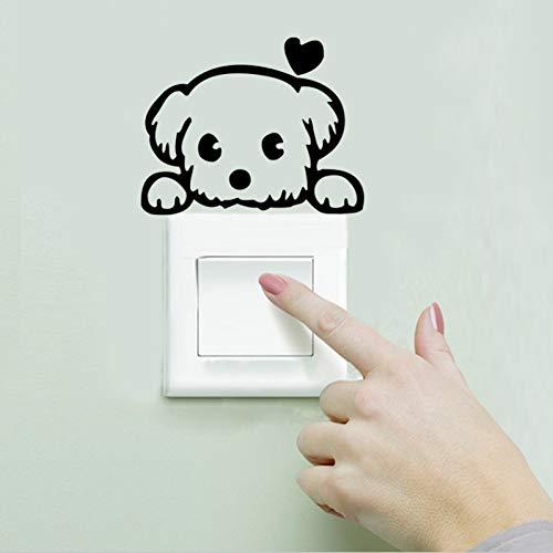 WKDEFU Child Netter Schatz-Hundeschalter-Schalen-Tür-Wand-Aufkleber-Kühlraum-Computer-Laptop-Abziehbilder Kindergarten