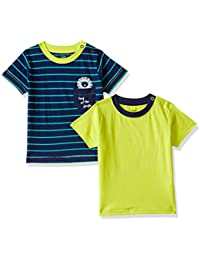 MINI KLUB Baby Boys'Plain Regular Fit T-Shirt (Pack of 2)