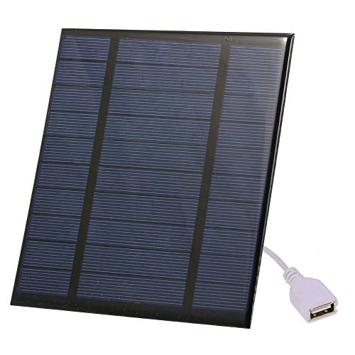 Decdeal Solarmodul 2.5W / 5V / 3.7V Tragbares Solarladegerät mit USB Anschluss Compact Solar Panel Ladegerät für Camping Wandern Reisen (150 x 130 x 3mm)