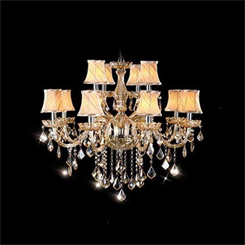 AXCJ im europäischen Stil, Kristall Kronleuchter der Lampe Lounge die Schlafzimmer Restaurant Kronleuchter Lichter kreative Persönlichkeit Nordic luxuriöse Atmosphäre,82 * 70 cm - 12 Kopf -