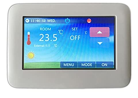 LKM Security® Touchscreen Unterputz Thermostat Digital   Raumthermostat / Wandthermostat   Programmierbar   Auch Für Fußbodenheizung +