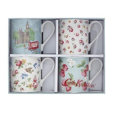 Cath Kidston Set Of 4 London Mugs Gift Boxed