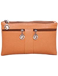 Zoonai Women Leather Wristlet Clutch Wallet Purse Small Crossbody Shoulder Bag - B06XF1C2DS