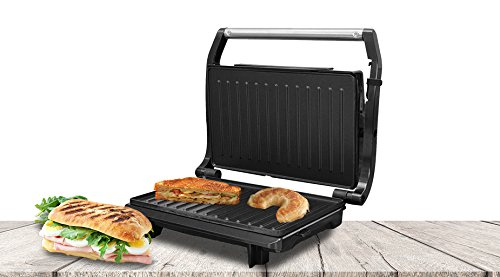 SOGO: SS-7122 Sandwichera, Panini Press Plancha Grill, Parrilla Eléctrica de 750W, Superficie Anti-Adherente...