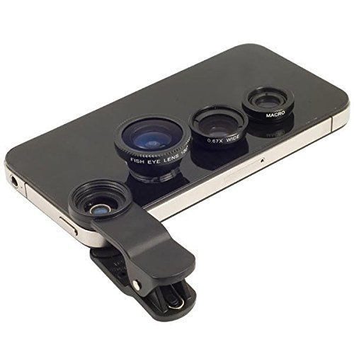 Universal Mobile Phone 3 in 1 Camera Lens Kit For Smartphones ( Colors May Vary ) Only From M.P.Enterprises