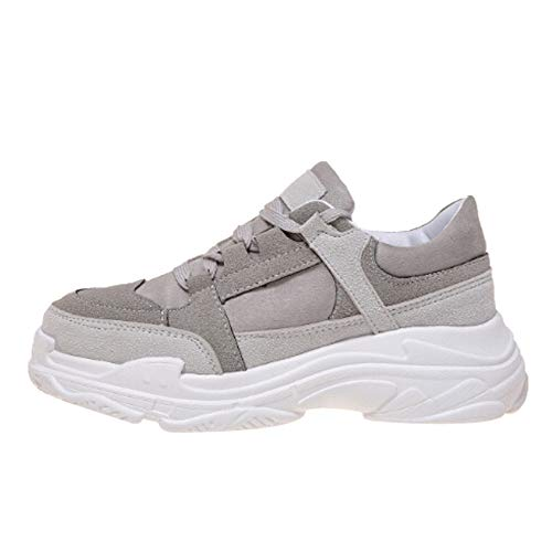 OSYARD Chaussure de Sport Femme Basket Mode Multisports Outdoor Sneaker Espadrille Course Lacets Coure Shoes