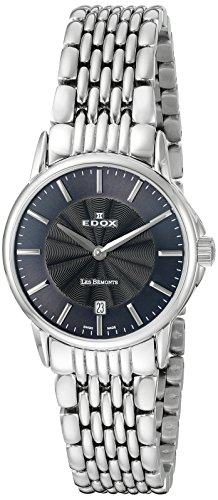 EDOX Womens Analogue Quartz Watch with Stainless Steel Strap 57001 3M Gin