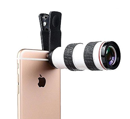 Teconica 8X_R Zoom Mobile Telescope Lens Kit with Adjustable Focus Optical Lens for All Android, Windows and iOS Smartphones {Random Colour}