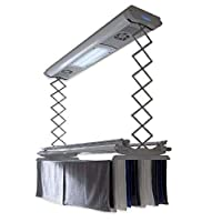 Foxydry Air 150, Wall and ceiling clothesline, electrical drying rack, with remote control Non cluttering