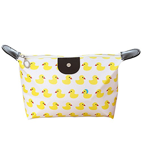 EJY Women's Make Up Bag Small Cosmetic Pouch Cute Print Wash Bag Toiletry Beauty Organiser (duck)