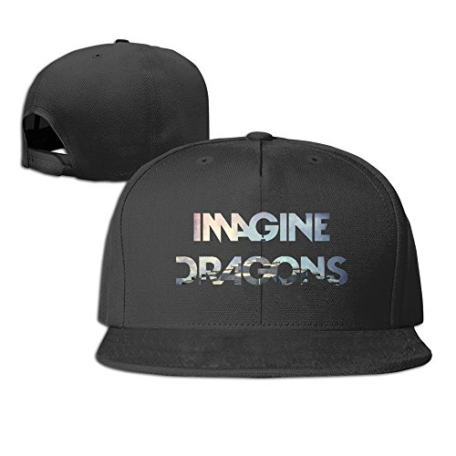 Hittings Imagine Dragons Night Visions Unisex Fashion Cool Adjustable Snapback Baseball Cap Hat One Size Black -
