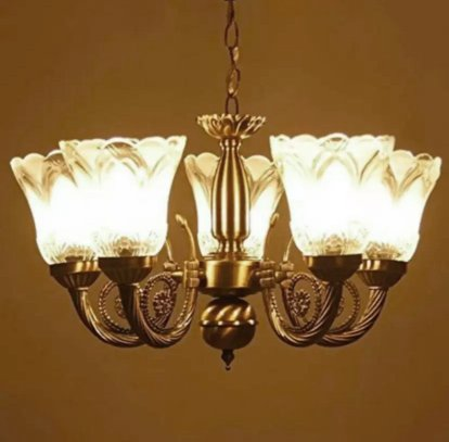 Citra led 5 light antique vintage white glass chandelier hanging citra led 5 light antique vintage white glass chandelier hanging pendant ceiling lamp fixture for dining mozeypictures Choice Image