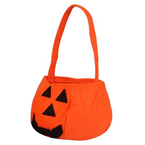 Pixnor Zucca di Halloween di 10pcs borsa tessuto Non tessuto per la decorazione di partito di Halloween