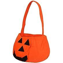 cf2452b38e Pixnor Zucca di Halloween di 10pcs borsa tessuto Non tessuto per la  decorazione di partito di