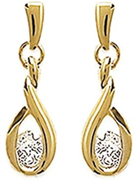 Isady - Olivia Gold - Damen Ohrringe - 18 Karat (750) Gelbgold platiert - Ohrhänger - Zirkonia