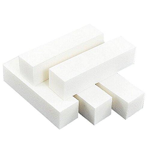Asien Nagel Kunst Tipps Buffer Buffing Schleifen Block Dateien Maniküre Werkzeug (weiß) 9,5 * 2,5 * 2,5 cm 5 stücke -