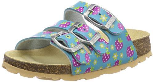 Superfit Mädchen Fussbettpantoffel Pantoffeln, Blau (Blau 82), 33 EU