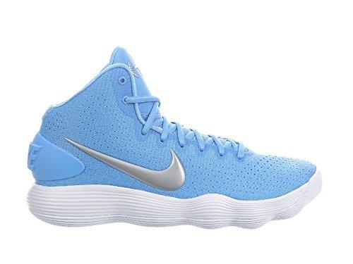 f7316e942a22 Nike Men s React Hyperdunk 2017 University Blue Metallic Silver White Nylon  Running Shoes 10