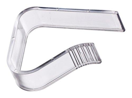 4er Set DIYexpert Tischtuchklammern für Tischplatten bis 45 mm aus Kunststoff transparent