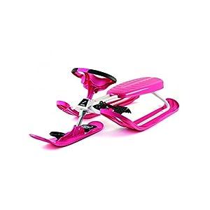 STIGA Mädchen Schlitten Snow Racer Color Pro Skiboblenkschlitten, Pink, M