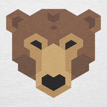 Texlab–Simple Bear–sacchetto di stoffa Bianco