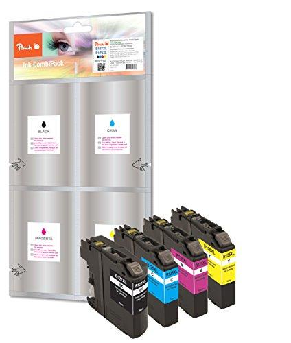 Preisvergleich Produktbild Peach Spar Pack Tintenpatronen kompatibel zu Brother LC-125XL, LC-127XL