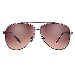 d0ed3b18d26 50%off Tom Martin Metal Alloy Frame UV400 Protected Sunglasses Banning  Aviator Satin Brown (Brown)