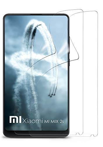moex 2X Xiaomi Mi Mix 2S | Schutzfolie Klar Bildschirm Schutz [Crystal-Clear] Screen Protector Display Handy-Folie Dünn Bildschirmschutz-Folie für Xiaomi Mi Mix 2S Bildschirmfolie