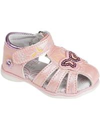Sandaletten für Babys und Kleinkinder, mit Lederfußbett, rosa, Gr. 19-24