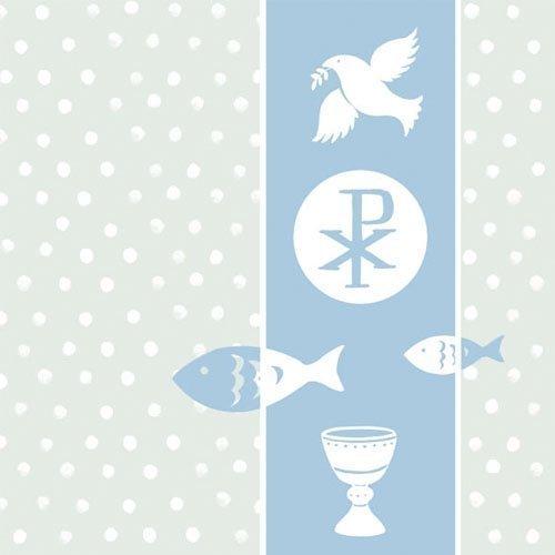 Serviette Ambiente Kommunion/Konfirmation blau First Communion blue 20 Servietten pro Packung