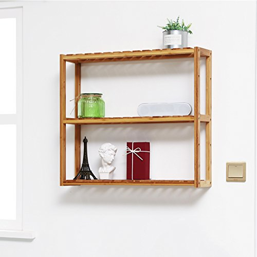 Bambus Wandregal, Badezimmerregal 60 x 15 x 54 cm - 3