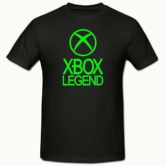 "XBOX LEGEND FUNNY NOVELTY MENS,BOYS T SHIRT SM-2XL,XBOX 360,GAMER (SMALL 34-36"" CHEST, BLACK)"