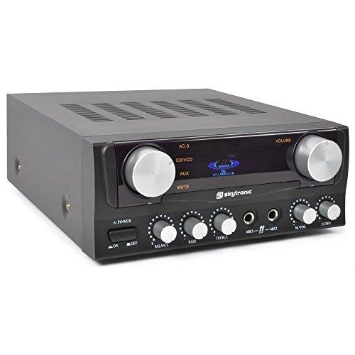Skytronic 103.202 amplificatore audio 2.0 canali Casa Cablato Nero