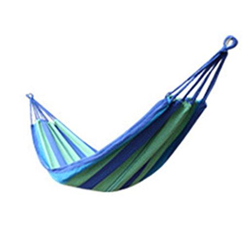 Blaux Hamac Portable Couleur Stripe Jardin Potager Voyage Camping Hanging Canvas Bed