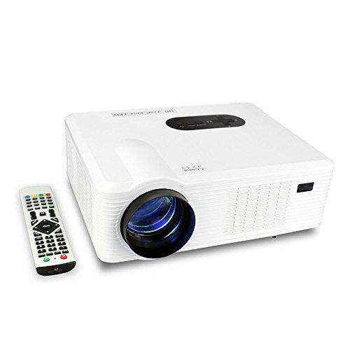 Proiettore LED Full HD,Mileagea Videoproiettore Multimediale 3000 Lumen per Home Cinema Theatre Telefono PC supporto 1080p HDMI USB AV VGA TV YPbPr