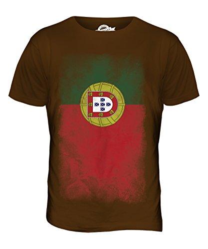 CandyMix Portugal Verblichen Flagge Herren T Shirt Braun