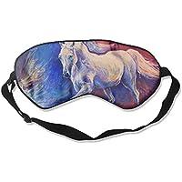 Sleep Eye Mask Horse Blue and Red Lightweight Soft Blindfold Adjustable Head Strap Eyeshade Travel Eyepatch E3 preisvergleich bei billige-tabletten.eu