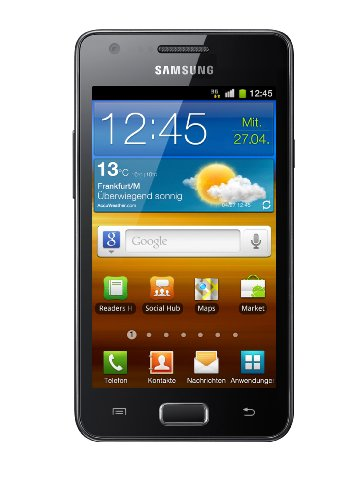 Samsung Mobile Samsung Galaxy R I9103 Smartphone (10,7 cm (4,2 Zoll) Display, Touchscreen, 5 Megapixel Kamera, Android 2.3) schwarz