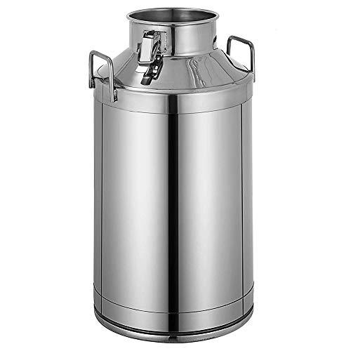 DiyArts Milchkanne aus Edelstahl 50 Liter Milchkübel Eimer mit Eimer 13,25 Gallonen Milchkannen-Tragetasche mit verschlossenem Deckel Hochleistungsspeicher für Öl, Ghee, Milch