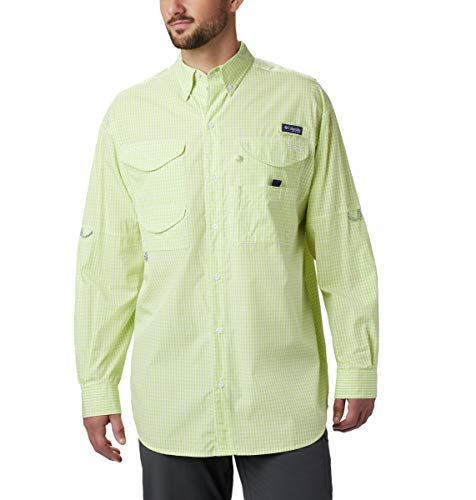 Columbia Super Bonehead ClassicTM Ls Shirt, Herren, Super Bonehead ClassicTM Long Sleeve Shirt, Green Glow Gingham, Medium -