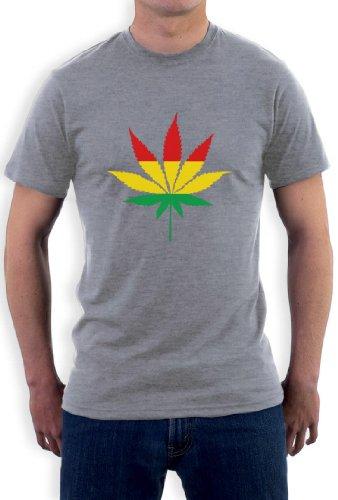 HANFBLATT REGGAE T-Shirt Grau