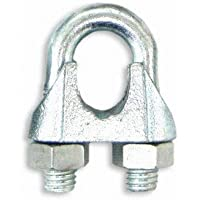 10 x Galvanised Wire Rope Grips For 6mm Wire Rope
