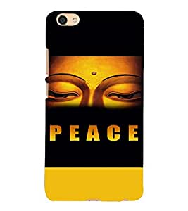 PrintVisa Religious & Spiritual Buddha Peace 3D Hard Polycarbonate Designer Back Case Cover for VIVO X7